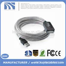 15Ft USB 2.0 удлинитель AA бустерный кабель для принтера Webcam Keyboard Mouse 5M