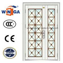 Außen-Stahl Secuirty Eingangstür für Gebäude mit Ce (W-GD-19)