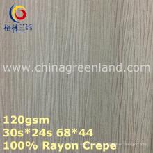 Tejido teñido crepé del 100% del rayón para la materia textil de la ropa (GLLML375)