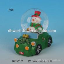 Lovely snowman resin christmas snow globe