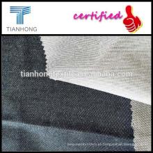 cambraia tecido/sarja lycra fio tingido tecido/imitação de tecidos denim de tingido de 100 fios de algodão