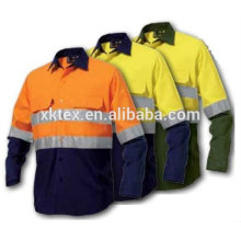 100% algodón de alta visibilidad amarillo marino antimosquitos para trabajadores forestales
