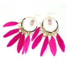 Fashion Rhinestone Natural Indian Plum Earring