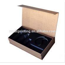 Boîte de papier de luxe de boîte cosmétique faite sur commande d'aimant avec EVA