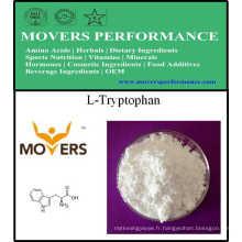 L-Tryptophan de catégorie comestible d'acides aminés d'approvisionnement d'usine CAS: 73-22-3.