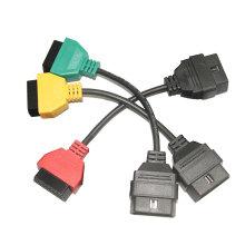 para FIAT ECU Scan adaptadores OBD diagnóstico cabo três cores