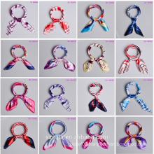 Fashion new arrival stripe colorful square scarf
