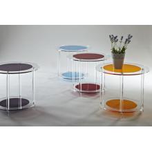 Цветной акриловый круглый столик