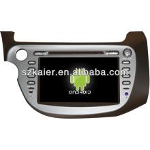 Système stéréo multimédia de voiture Android pour Honda Fit / Jazz avec GPS / Bluetooth / TV / 3G / WIFI