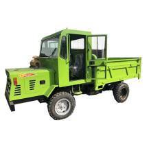 Mountain construction transport vehicle cargo truck hydraulic double top four wheeler