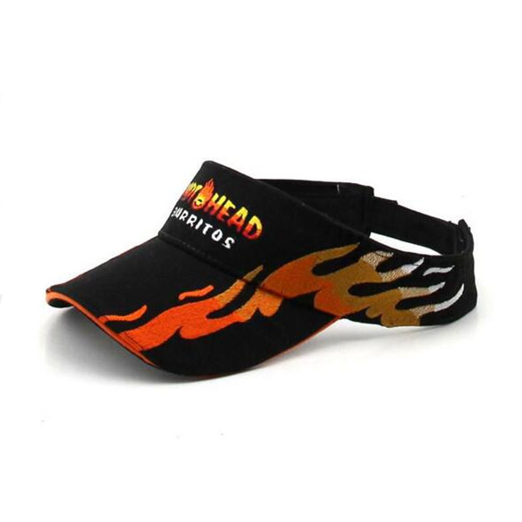 High Quality Flame Embroidery Brushed Cotton Visor