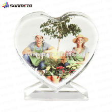 Mode Liebe Form Sublimation lustigen Kristall Fotorahmen für Hochzeit Geschenk
