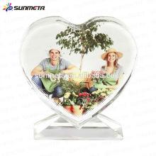 Мода Любовь сублимации формы смешной кристалл фоторамка для свадебного подарка