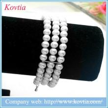 Fameux fil de tennis en gros bracelet en similicuir bracelet en perle bracelet en gros bijoux en vrac
