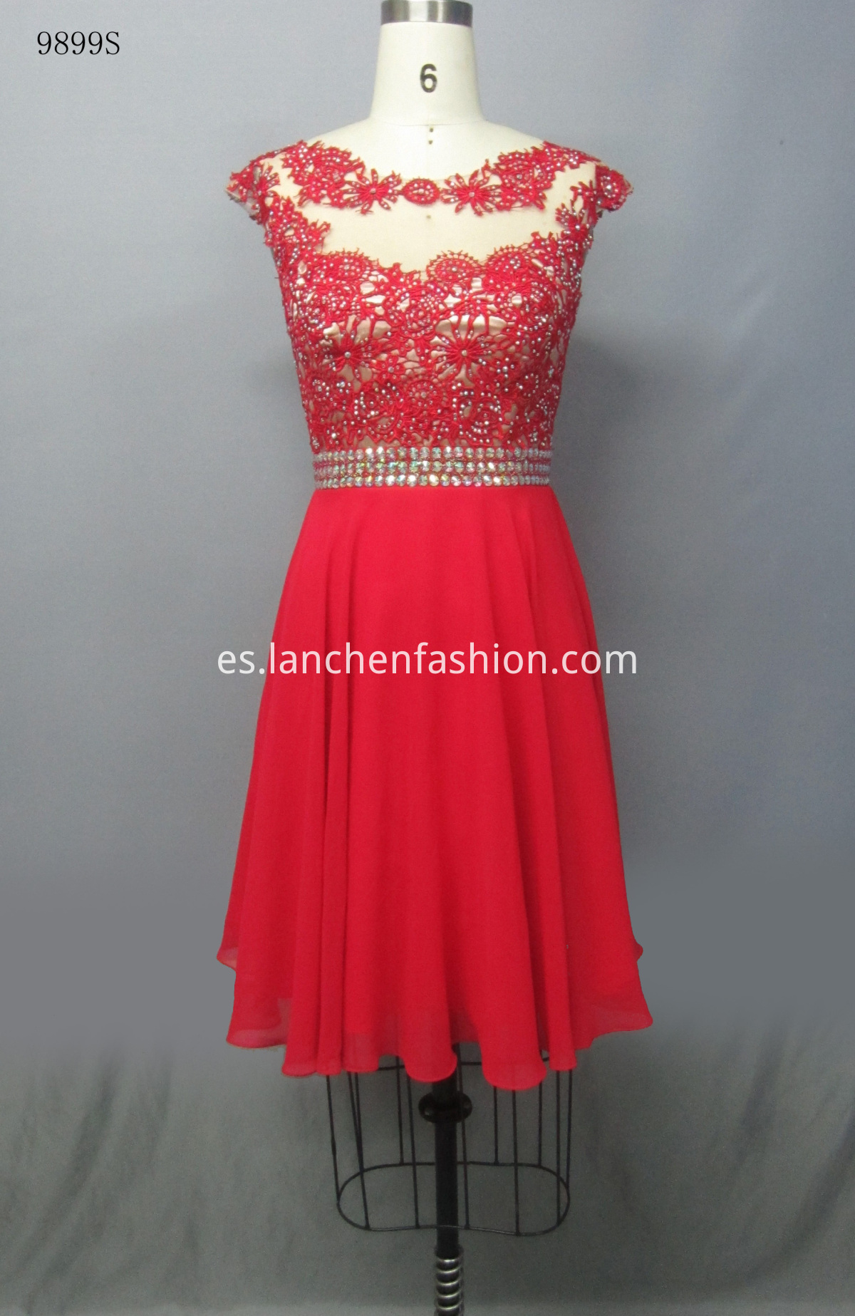 Evening Sleeve Dress RED