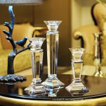 Candelabro de cristal, decoración del hogar del estilo europeo, sostenedor de vela de la boda