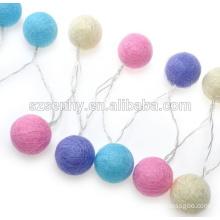 Colored Christmas Cotton String Light Balls