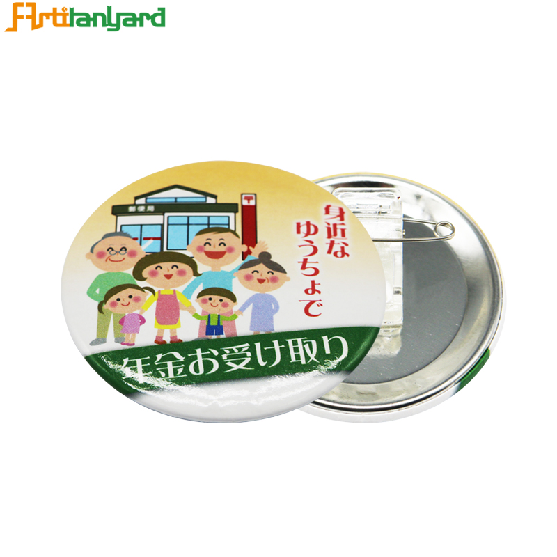 Badges Button With Printing Logo