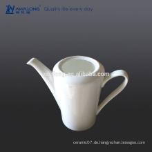 Glaze Bone China Eco-friendly Blank Weiß fein Keramik Kaffee Topf