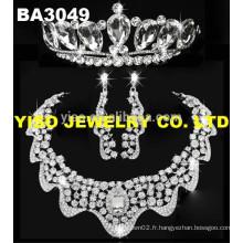 Ensemble de bijoux de mariage à la mode