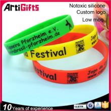 professional design silicone chain link bracelet