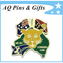 Lionesses Care Metal Awareness Pin Brooch Badge for Lionesses Care (badge-160)