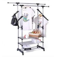 Steel Rack Multifunctional Garment Display Stand Clothes Hanging Shelf (GDS-065)