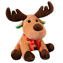 Hot sale personalised weighted surprise christmas reindeer for baby deer plush-toys