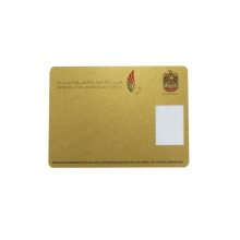 Hot Stamping Gold Silver PVC Business Card
