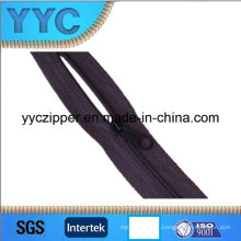 Cremalleras de cadena larga de nylon de 3 # de movimiento rápido