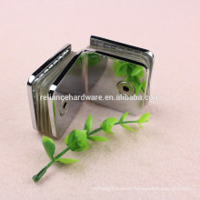 square shape brass material shower glass door holding hinge clamp