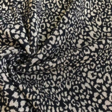 Leopard fashion Jacquard knit fabric