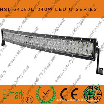 240W LED CREE Curved-U Light Bar Offroad, Spot/Flood/Combo LED Light Bar Offroadfahren Road