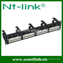 with cable manager utp cat6 24 ports patch panel