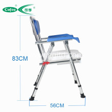 Aluminum folding home disabled  commode chair with toilet