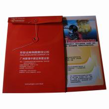 Saco de compras impresso do presente do papel da cor (SW406)