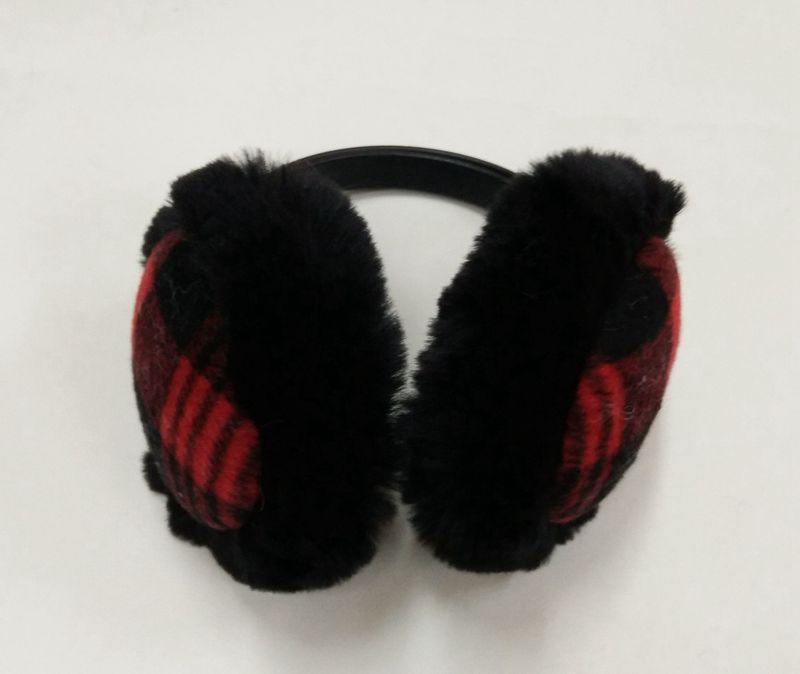 Grid Parttern Warm Earmuffs