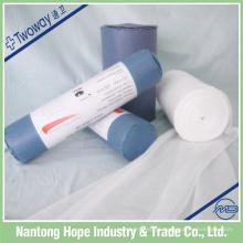 suprimentos médicos nantong 100% algodão gaze médica travesseiro rolo