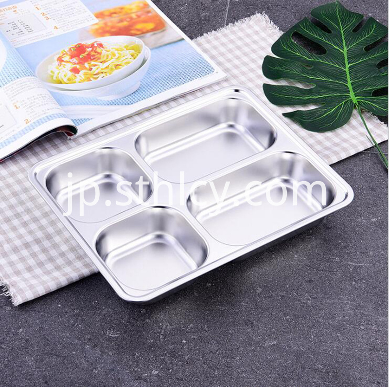 304 Stainless Steel Lunch Plate