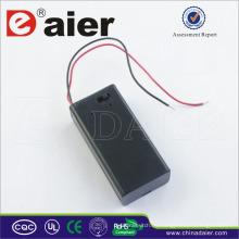 Daier con cable de cubierta de interruptor 9V Soporte de batería