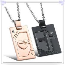 Joyería de moda colgante collar de acero inoxidable (nk524)