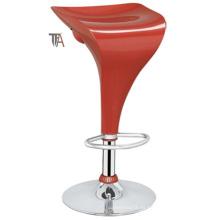 Material ABS moderno rojo para taburete de bar (TF 6007)