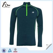Reflektierender Druck Mann Shirts Sport Pullover mit Reißverschluss