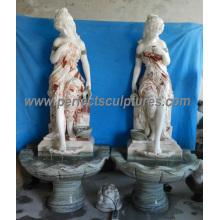 Fonte de água interior com escultura de mármore (SY-F351)