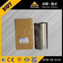 Komatsu genuine parts PC200-7 cylinder liner 6736-29-2110