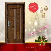 interior bedroom wood panel door