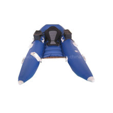 Azul, azul, flutuador, tubo, inflável, bote, pesca