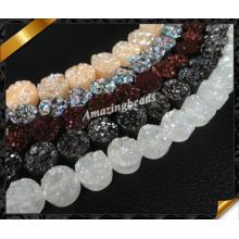 Круглый драгоценный камень друзы, оптовая мода ювелирные изделия с Друзи бисера (YAD029)