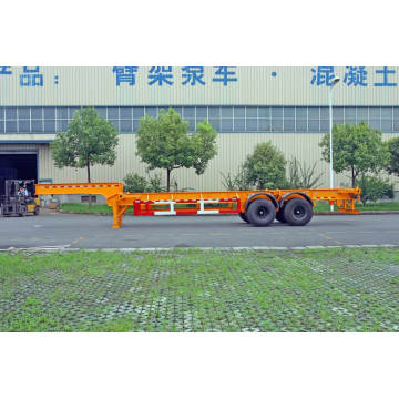 20/30 pieds Gooseneck deux essieux Container châssis de remorque (HZZ9341TJZ)