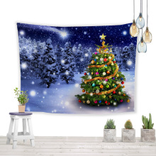 Christmas trees best wish lucky wall tapestry